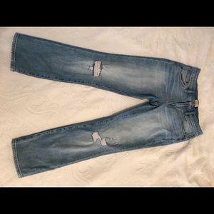 JCrew high wasted slim broken in boyfriend jeans